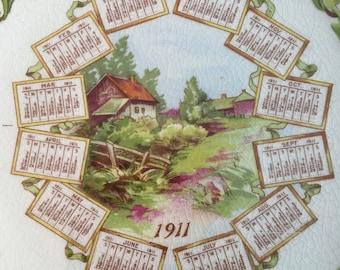 Calendar Plate - 1912