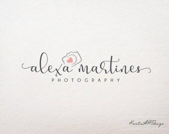 Camera logo, Photography watermak, Heart logo, Hand-drawn logo design, Logo watermark 376