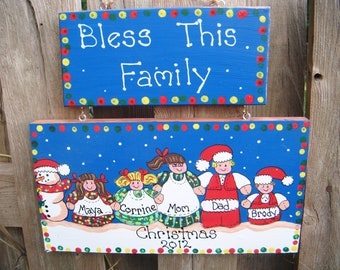 Personalized Christmas Family Plaque