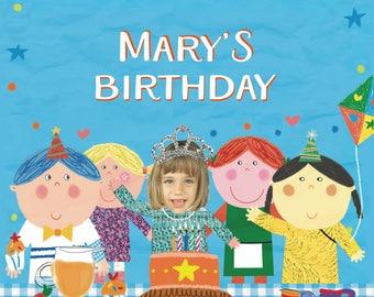 Birthday Book, girls birthday book, childs birthday book, kids birthday story, 1st birthday gift, personalized book, Personalised story,