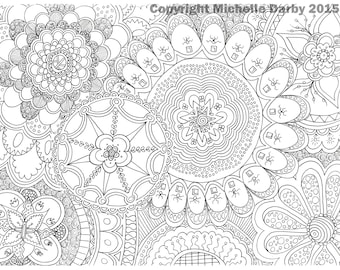 Mandala Flowers Instant Download