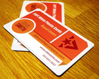 Plastic Business Cards print 250 - Custom DESIGNED & PRINTED- On Thick 20pt stock.