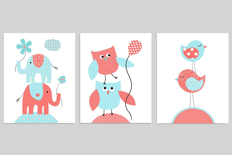 Zwilling-Kinderzimmer-Wand-Kunst Baby-Raum-Dekor Baby Girl