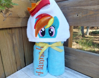 My Little Pony Inspired Hooded Towel Wrap  Deluxe Version