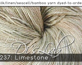 From the Lab - DtO 237: Limestone on Silk/Linen/Seacell/Bamboo Yarn Custom Dyed-to-Order