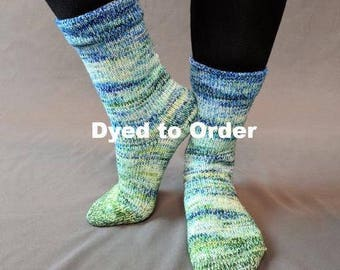 Frog and Toad Impressionist Gradient Matching Socks Set Yarn, dyed to order - pick your size, pick your yarn base
