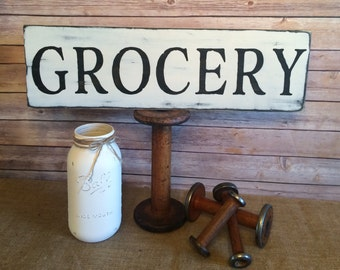 Farmhouse style Grocery wood sign