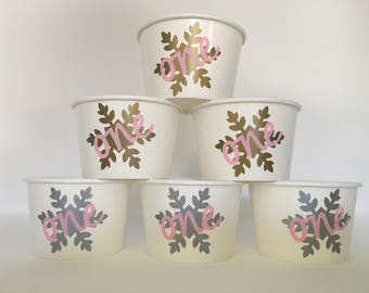 Winter Onederland Party snack cups