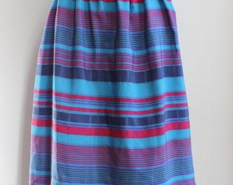 Original vintage 1950s blue striped full skirt