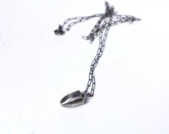 Missed Me // solid sterling silver bullet unisex pendant // from Mod Evil
