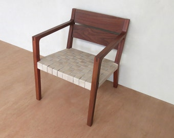 Danish Modern Chair, Mid Century Chair, Natural Leather Armchair,  Sustainably Sourced, Rosita