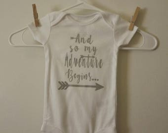 And so my Adventure Begins Outfit-Baby Bodysuit