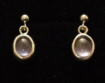 Iolite Drop Earrings in Sterling Silver