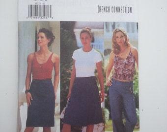 Wrap skirt /Easy/summer / A-line skirt/loose /casual pants/ 2001 sewing pattern, Size 12 14 16, Waist 26 28 30, Hip 36 38 40, Butterick 3132