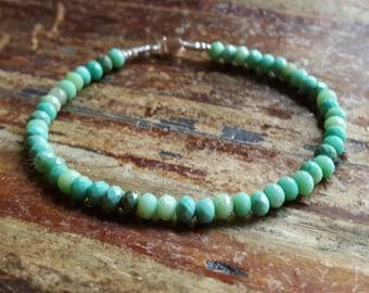 Opal Bracelet, Opal Beaded Bracelets, October Birthstone Bracelet, Peruvian Opal, Birthstone Jewelry, Womens Gift for Women, Gift for Her
