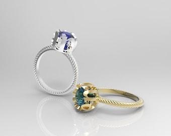 Namehalo ©  ring one carat center