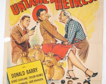 The Untamed Heiress, Movie Poster