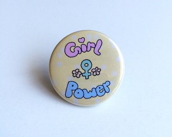Girl Power Pin, Girl Power Pinback Button, Venus Symbol Pin, Feminist Pin, Feminism Pin