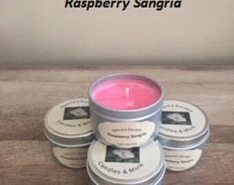Raspberry Sangria Soy Wax 6 oz. Candle Tins