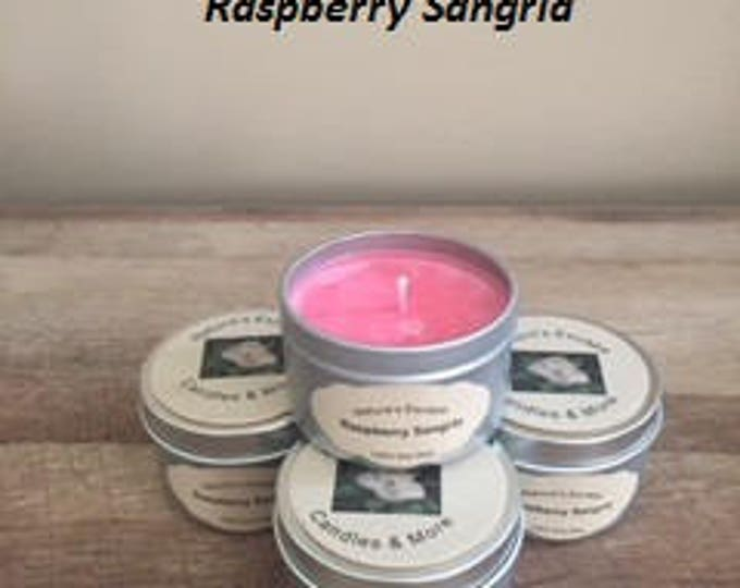 Raspberry Sangria Soy Wax 6 oz. Candle Tins