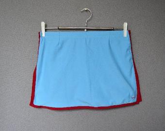 Nike Skirt Tennis Skirt Light Blue Vintage Nike skirt Nike midi Skirt Small Sizert 90s Athletic Wear Nike Skirt
