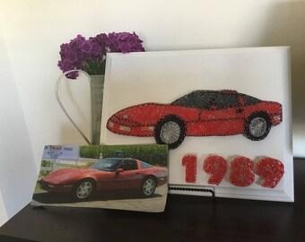 Custom Made to Order Classic Car String Art