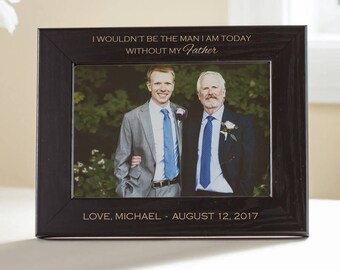 Personalized Father of the Groom Picture Frame (Black): Engraved Father of Groom Frame, Personalized Father of the Groom Gift, SHIPS FAST