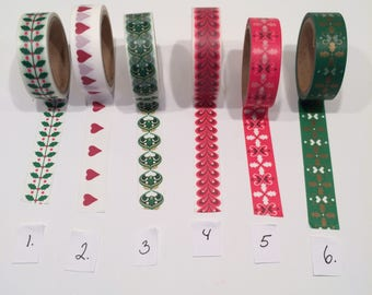 Washi tape / christmas / roll