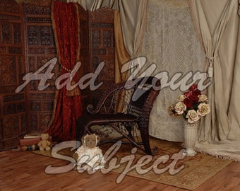 Digital Photo Download Background Vintage Victorian Backdrop