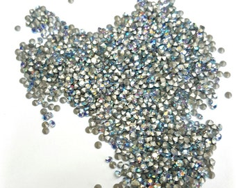 100 Pieces Sapphire AB Swarovski Crystal Point Back Stones, Article #1100, Vintage, 11pp