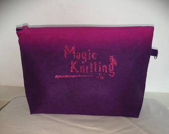 Magic Knitting Purple and pink