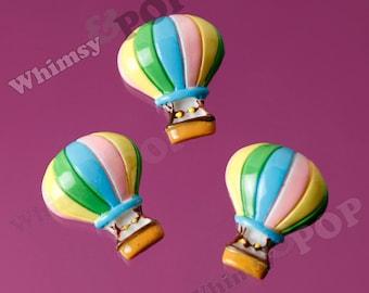 Large Hot Air Balloon Cabochons, Hot Air Balloon Cabochon, 30mm x 18mm (R6-090)