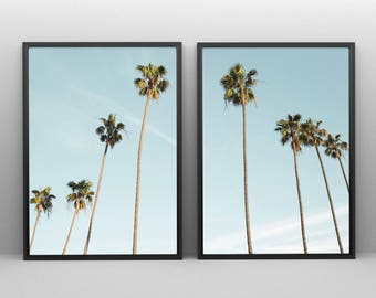 Palm Trees Print Tropical, Black And White Tropical Tree Print, 2 Piece Wall  Art, Palm Trees Wall Art, Palm Tree Photo Tropical Decor Art