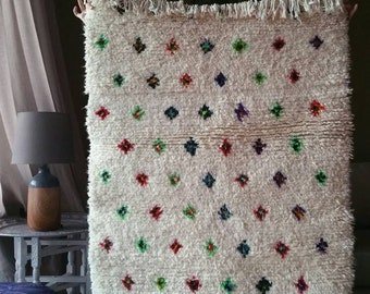 """30% OFF Beni ourain rug """"Spring Flowers"""" moroccan carpet fluffy soft by Zayania perfect for nursery children room bedroom living room azilal"""