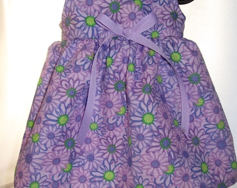 READY to SHIP 15 inch Purple Daisy Doll Dress will fit Bitty Baby or any 15 inch doll