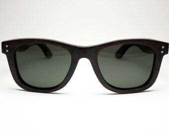 Premium Wayfarer - Dark Brown Eco-Friendly Wooden Sunglasses by Möbius Collection