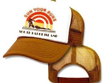 SUN YOUR BUNS Mesh Trucker Hat Cap