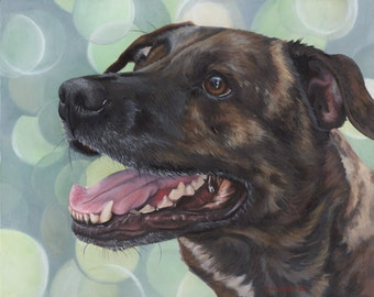 Custom Pet Portrait - painting, commission dog painting, gift for dog lover