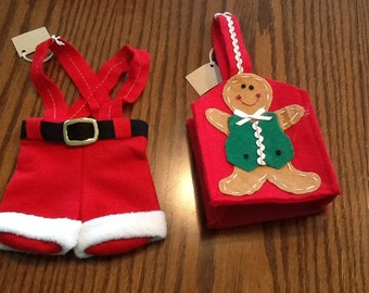 Vintage Handmade Felted Holiday Gift Bags