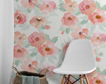 Layla Floral • Easy to Apply Removable Peel 'n Stick Wallpaper