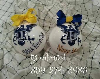 personalized u.s. navy ornament
