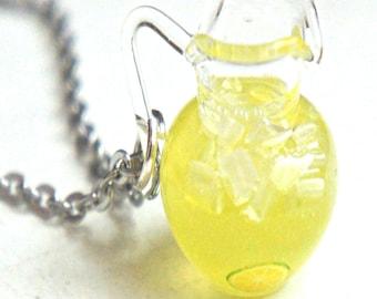 lemonade necklace-miniature food jewelry