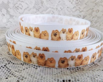 Dog ribbon Pomeranian Dog ribbon 5/8 Pomeranian ribbon