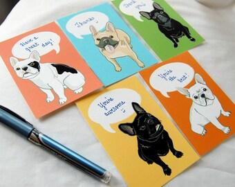Convo French Bulldog Valentines - Eco-friendly Set of 5
