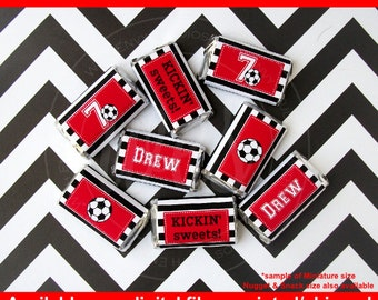 Soccer Chocolate Bar Wrappers -  Soccer Candy Bar Wrappers -  Soccer Party Favors - Soccer Candy Labels - Digital & Printed