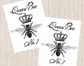 Queen Bee Notecards Bee - Set of 10 Cards & Envelopes - Vintage Queen Bee Notecards