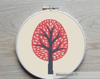 cross stitch pattern tree, summer tree, PDF pattern ** instant download**