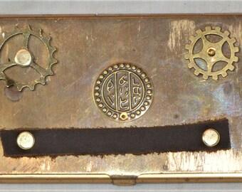 Steampunk Card Case - Brass