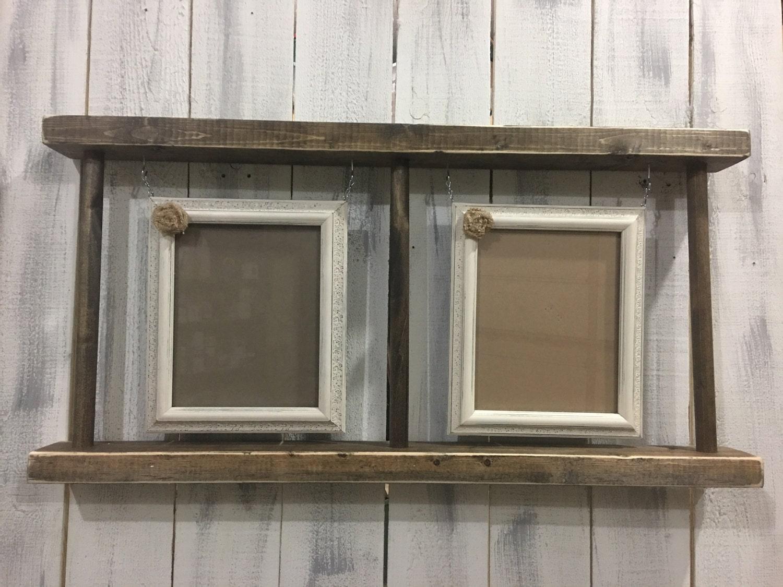 hanging picture frame ladder. Black Bedroom Furniture Sets. Home Design Ideas