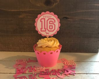 Victoria's Secret PINK Sweet 16 Cupcake Toppers